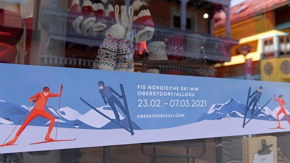 Banner von der SKI WM Oberstdorf 2021
