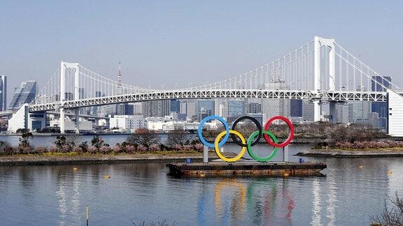 Olympischen Ringe in Tokio