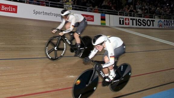 Pauline Grabosch und Emma Hinze im Teamsprint.