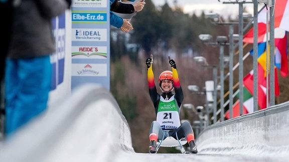 FIL Juniorenweltcup Rennrodel: Jessica Degenhardt.