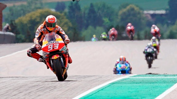 Marc MARQUEZ, SPA (Repsol Honda Team) Honda mit grossem Vorsprung.