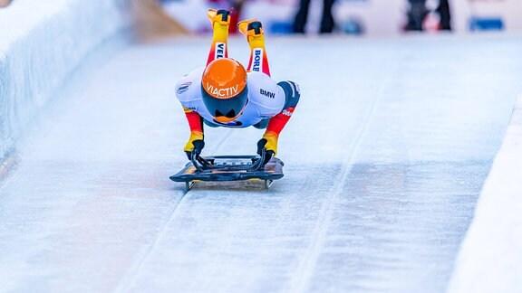 Alexander Gassner beim BMW IBSF Weltcup Bob und Skeleton