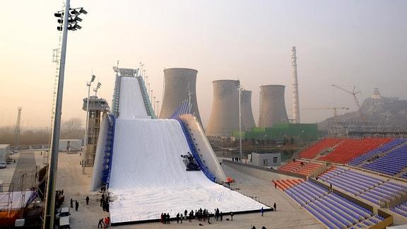 Skisprunganlage und Skistadion in Peking