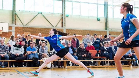 Junioren Nationalspielerin im Badminton Maria Kuse