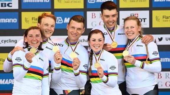 Deutsches Team auf dem Podium