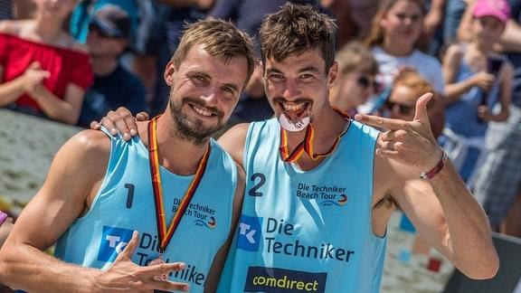 Felix Gluecklederer (Strandathleten-BeachL), Jannik Kuehlborn (Strandathleten-BeachL)