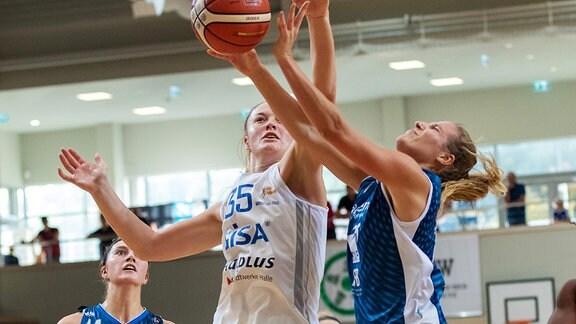 Heidelbergs Olivia Nash gegen Halles Jordan Korinek