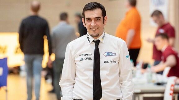 Trainer Miguel Araujo von den GISA Lions SV Halle.