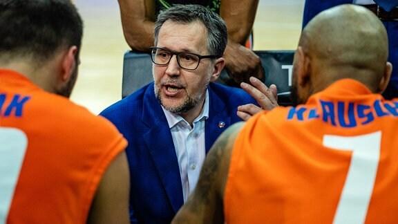 Trainer Silvano Poropat (Mitteldeutscher BC)