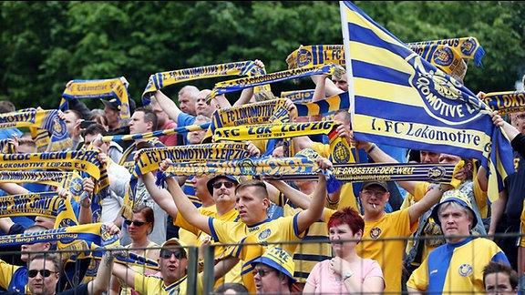 Fans von Lok Leipzig.