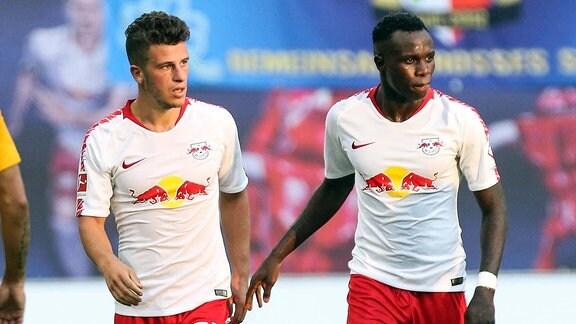Diego Demme (li.) und Armindo Tue Na Bangna Bruma (RB Leipzig)