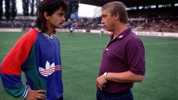 Dirk Schuster im Gespräch mit Joachim Streich, 1990