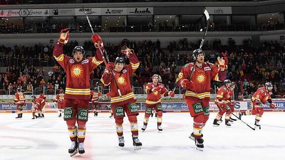 Eishockeyspieler jubeln