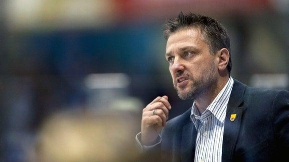 Weißwassers Trainer Dirk Rohrbach