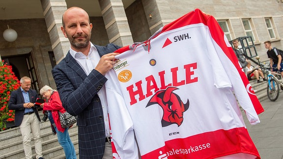 Daniel Mischner, Geschäftsführer der Saale Bulls Halle.