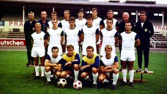 MAnnschaftsfoto FC Carl Zeiss Jena, 1970