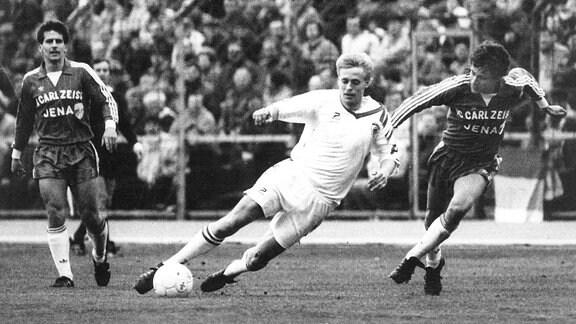 Heiko Weber in einem Spiel der DDR-Oberliga 1989/90
