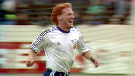 Matthias Sammer im Spiel Island gegen DDR am 6.8.1989
