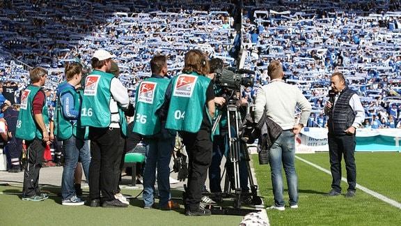 Joachim Streich im Interview vor dem Spiel.