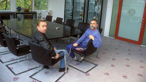 Gerd Müller (re.) und Joachim Streich.
