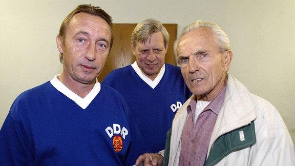 Joachim Streich, Georg Buschner und Bern Bransch