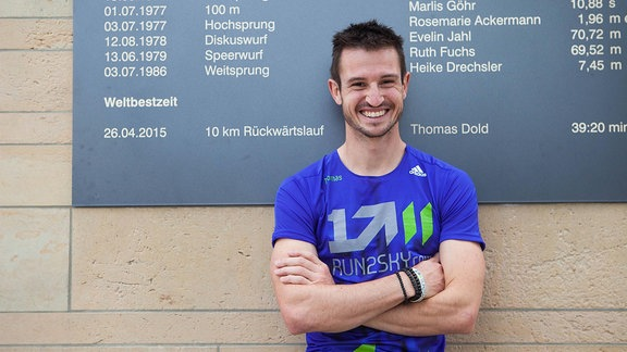 Rückwärtsläufer Thomas Dold im Heinz Steyer Stadium