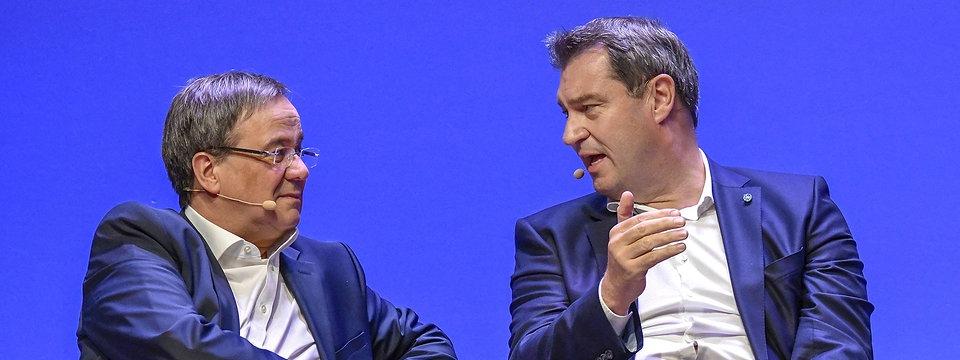 Laschet und Söder halten sich beide als Kanzlerkandidat geeignet | MDR.DE