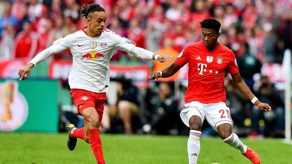Yussuf Poulsen (RB Leipzig), David Alaba (FC Bayern Muenchen)