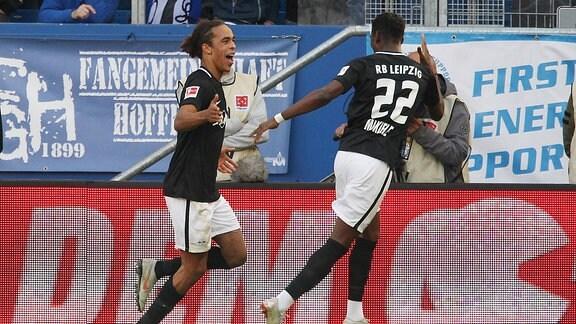 2:0 für RB Leipzig durch Yussuf Poulsen (9, RB Leipzig)