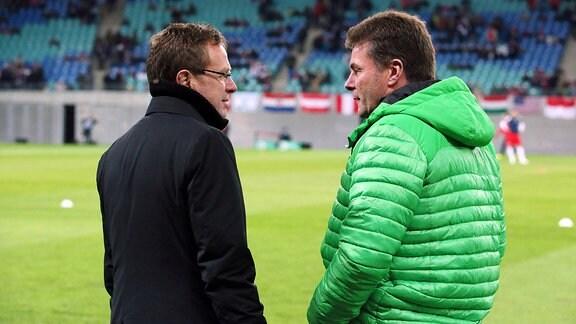 Ralf Rangnick und Dieter Hecking (2015)