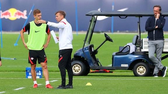 Dani Olmo und Trainer Jesse Marsch