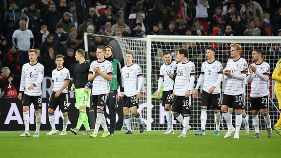 deutschen Spieler nach dem Spiel