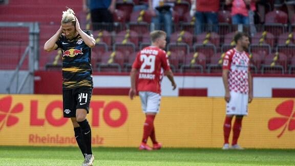 Enttäuschung bei Kevin Kampl, RB Leipzig.