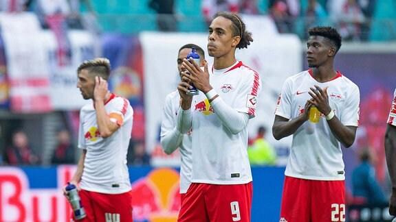 Die Spieler von RB Leipzig sind enttäuscht