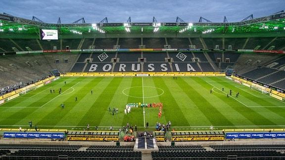 Leere Ränge im Stadion von Mönchengladbach