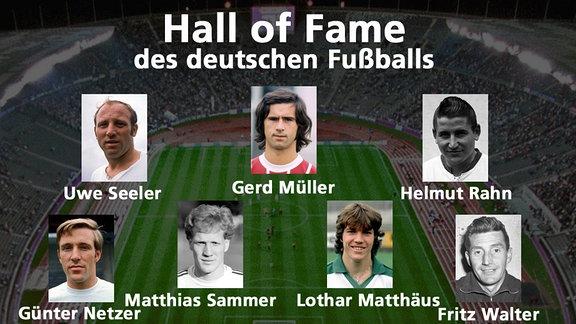 Hall of Fame des deutschen Fußballs - die erste Elf