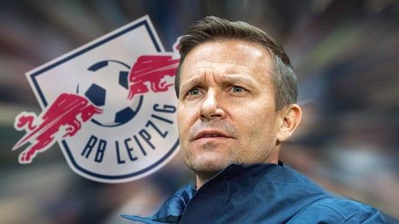 FOTOMONTAGE: Jesse Marsch wird offenbar neuer Cheftrainer von RB Leipzig. Der US-Amerikaner kommt von Red Bull Salzburg zu den Sachsen.