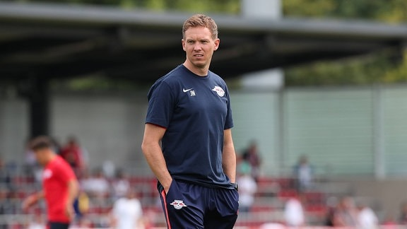 Trainer Julian Nagelsmann im RB Leipzig Trainingszentrum im Cottaweg in Leipzig