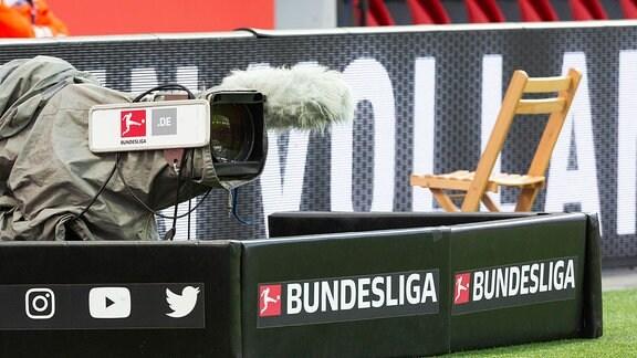 TV-Kamera mit Bundesliga Logo
