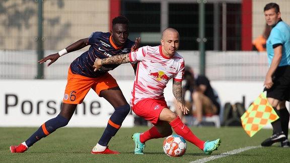 Angelino (Leipzig) gegen Junior Sambia  (Montpellier)