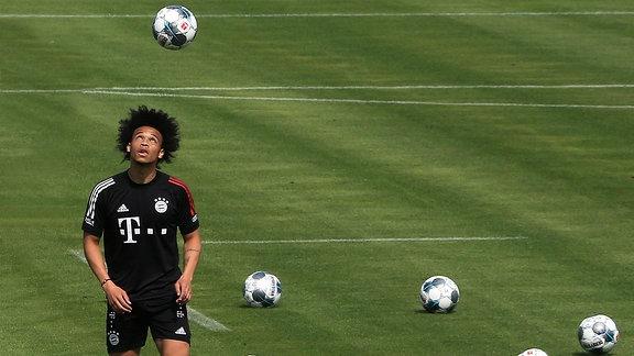Leroy Sane beim Training, an der Saebenerstrasse München.
