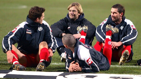 Manuel Friedrich, Mohamed Zidan, Trainer Jürgen Klopp und Marco Rose