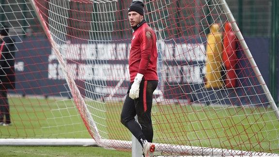 Torwart Marius Müller (21, RB Leipzig).