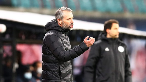 RB Leipzig vs. VfL Borussia Mönchengladbach - Trainer Marco Rose (Borussia MG)