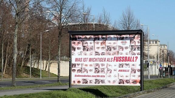 Plakat-Kampagne von Fußball-Bundesligist RB Leipzig