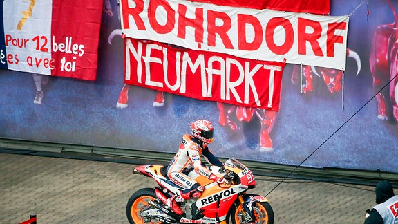 Moto GP Weltmeister Marc Marc Marquez in der Red Bull Arena