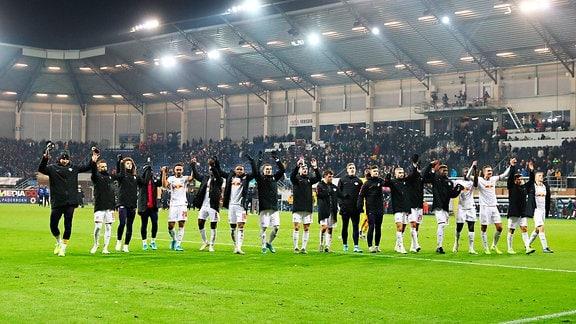 Mannschaft von RB Leipzig, Schlussjubel