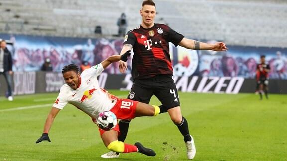 RB Leipzig - Bayern München - Christopher Nkunku (18, RB Leipzig), Niklas Süle / Suele (4, Bayern)
