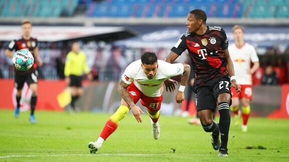 RB Leipzig - Bayern München - Justin Kluivert (21, RB Leipzig), David Alaba (27, Bayern)
