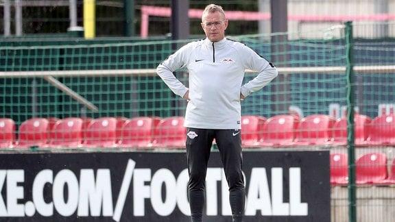 Ralf Rangnick beim Trainingsauftakt von RB Leipzig 2018